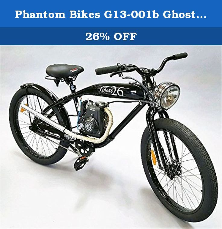 Phantom Bikes G13 001b Ghost 26 Bike Gas Powered Bike Gray Features Rust Free Aluminum Hydro Form Frame Double Steel Power Bike Bicycle Motorized Bicycle