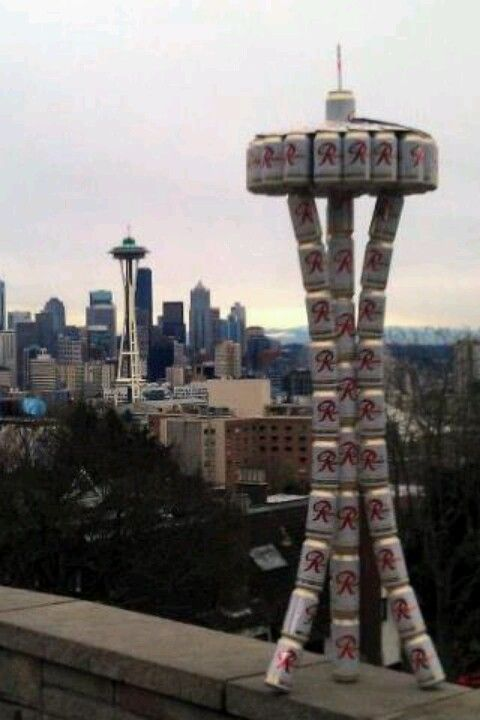 ec1867433 Rainier Beer Space Needle both from Seattle | Player Style ...