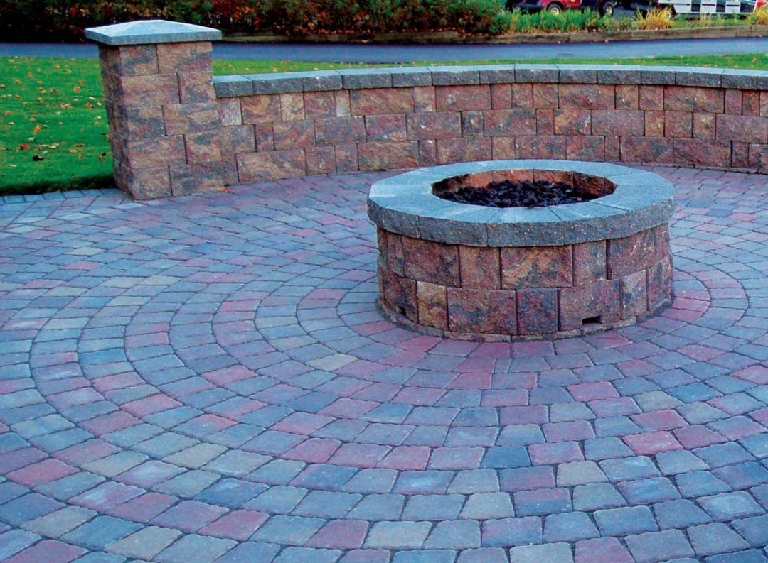how to build a fire pit on top of pavers patio kits lowes