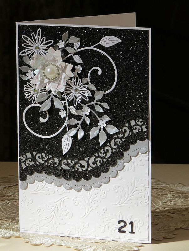 To My Beautiful Wife Birthday Card Embossed Glittered Card With Insert