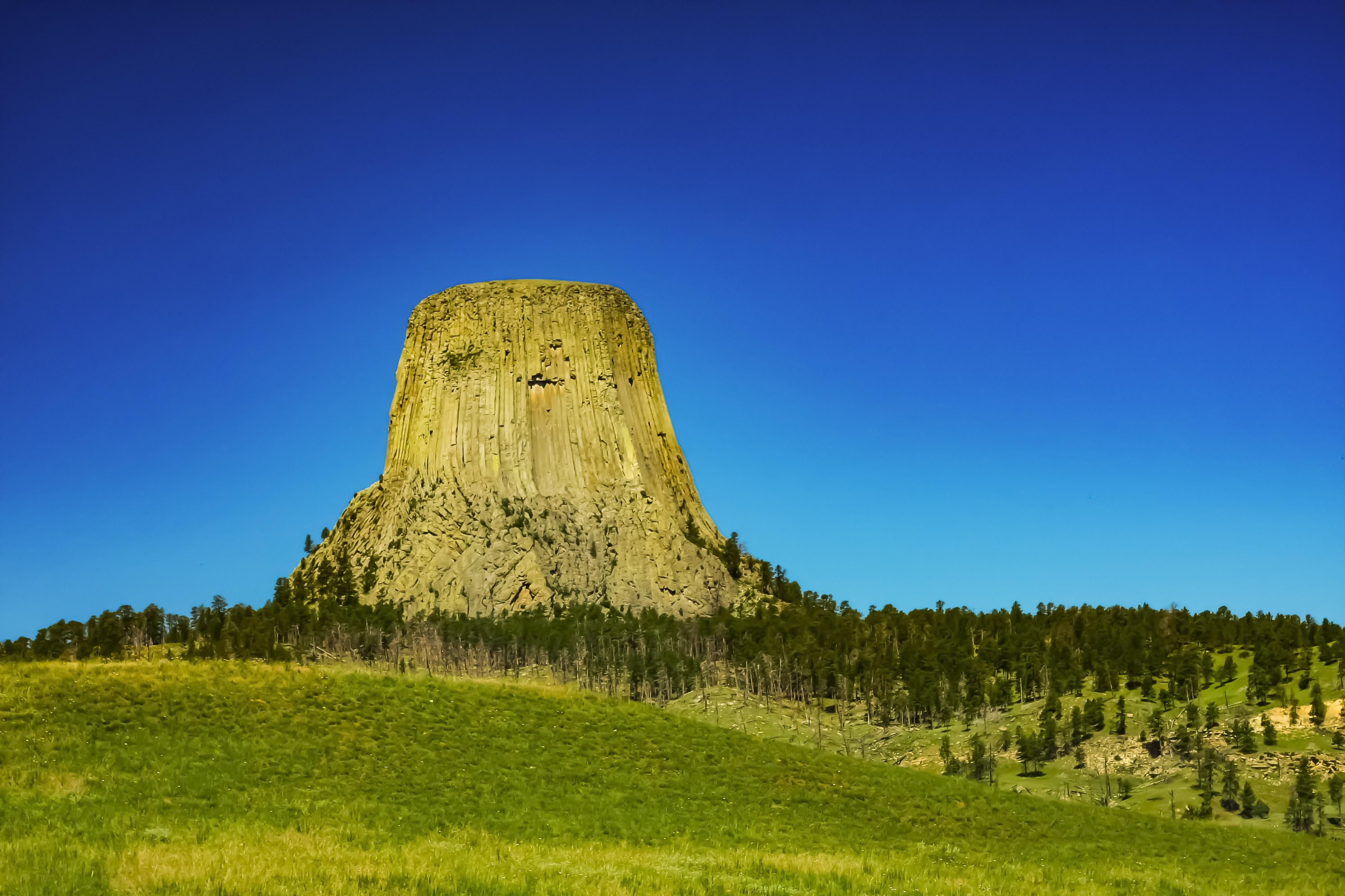 My First Etching Devils Tower Katy Scudieri My Drawings Drawings