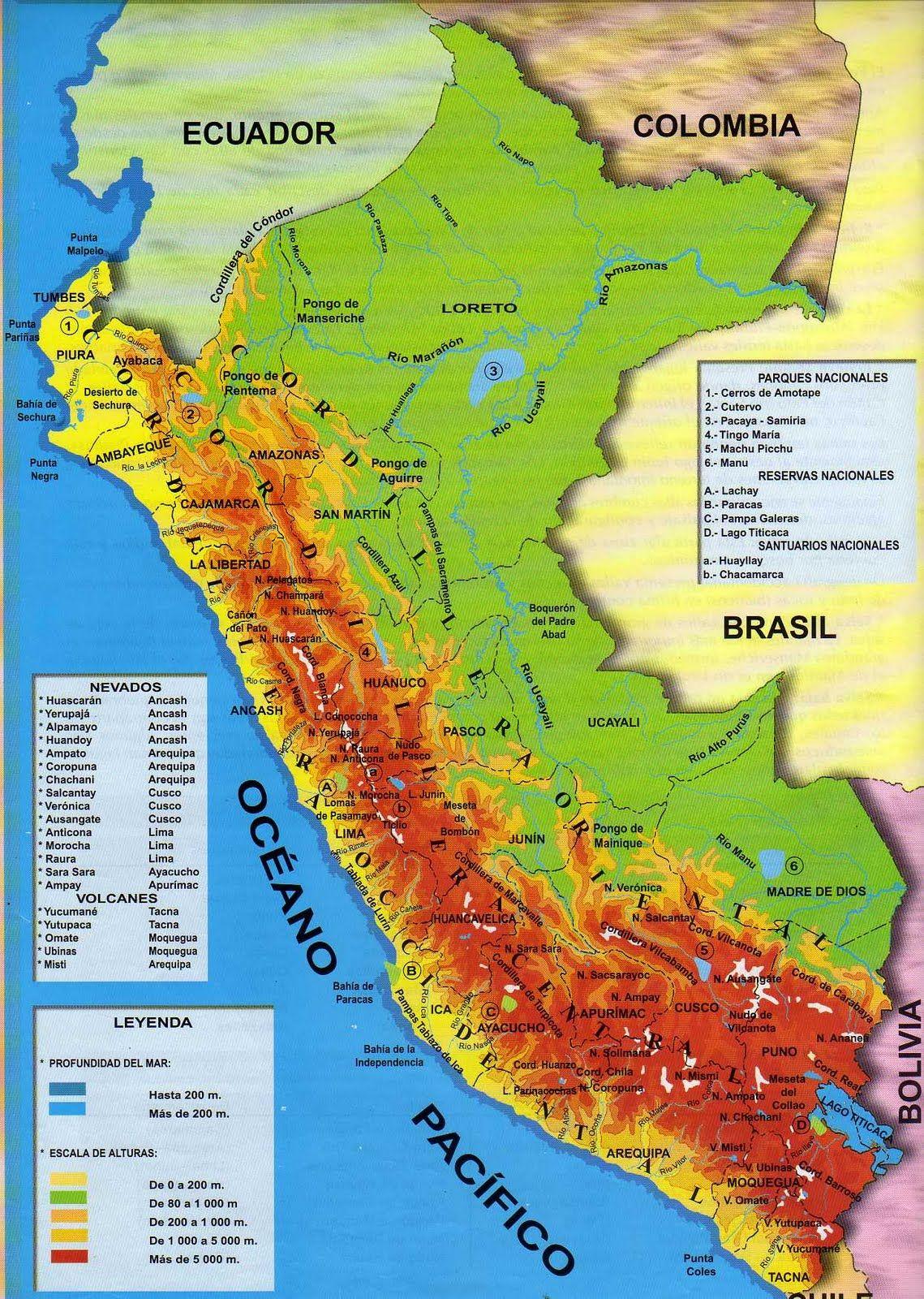 PARA MIS TAREAS: MAPA FÍSICO DEL PERÚ http://paramitarea.blogspot.com/2011/07/mapa-fisico-del-peru.html