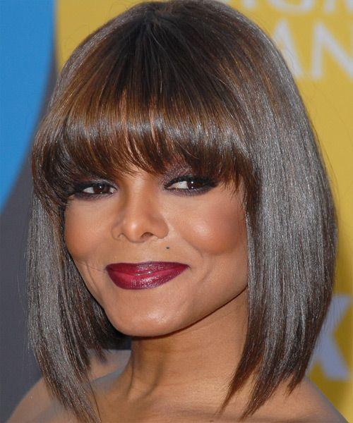 Janet Jackson Medium Straight Hairstyle Straight Hairstyles Medium Straight Hairstyles Short Hair Styles