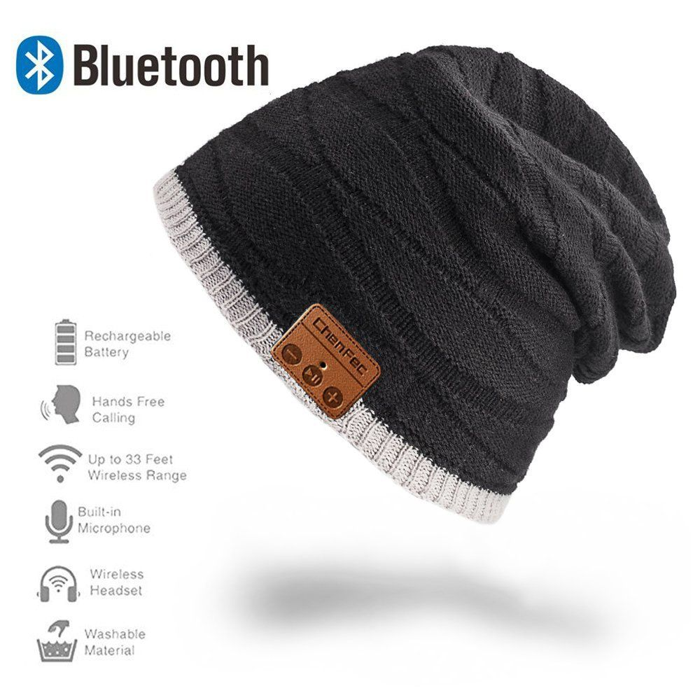 ea6e5e3ee83 ChenFec Unisex Beanie Bluetooth Musical Hat with Speaker Mic Winter Sport  Cap Warm   Comfortable for