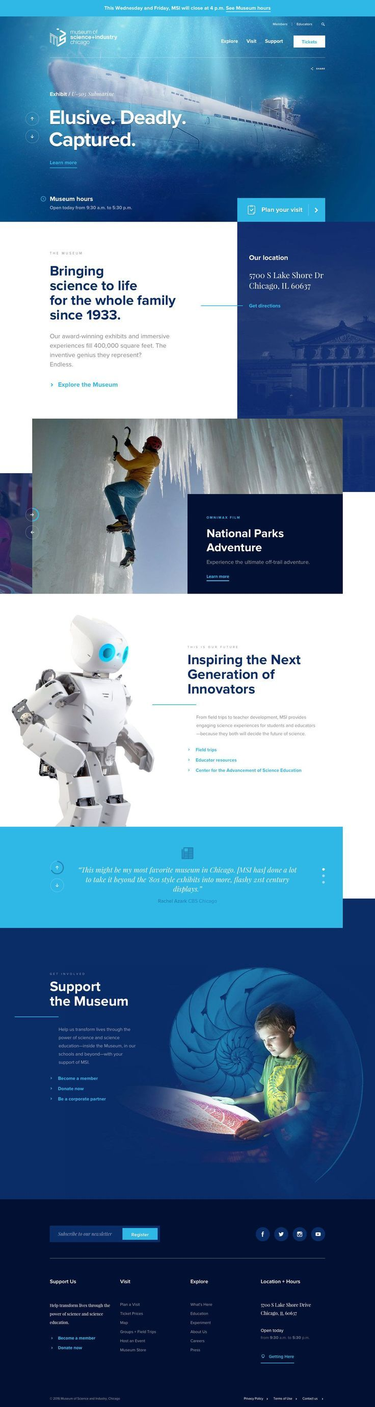E Book Gratuito Ferramentas Para Websites Museum Of Science And Industry Of Chicago More Web Design Inspir Web Design Inspiration Web Design Web Design Tips