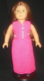 "Bizzy Crochet: Evening Dress w/ Shawl free Pattern- 18"" Doll"