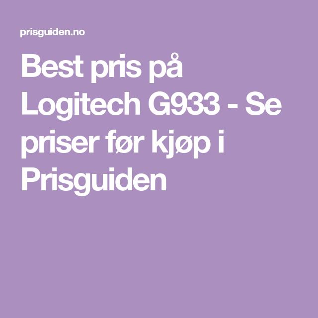 2fbbe450 Best pris på Logitech G933 - Se priser før kjøp i Prisguiden | Ønskeliste |  Logitech