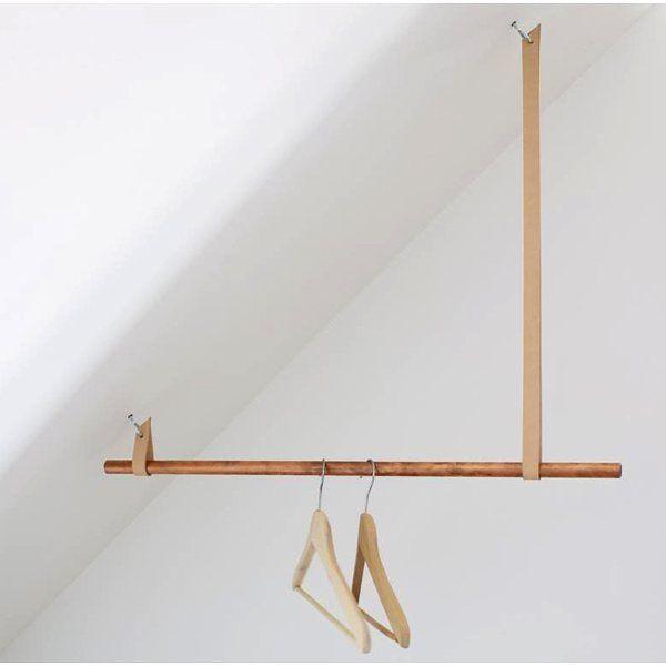 Smart och snygg lösning av klädhängare för snedtak Walk in closet Pinterest Sót u00e3o, Closet