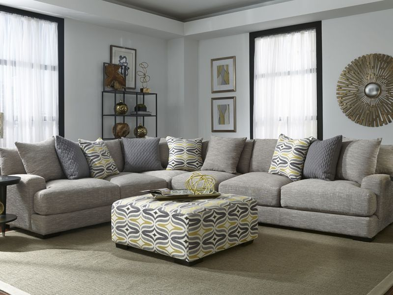 Hannigan Fog 3 Or 4 Pc Sectional By Franklin Sectional Sofa Sectional Sofa With Chaise Sectional Furniture