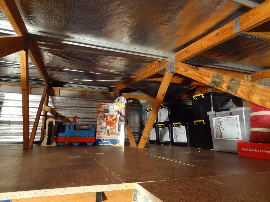Garage Organisation And Creating More Storage Using Roof Space Roof Storage Garage Organisation Garage Attic Storage