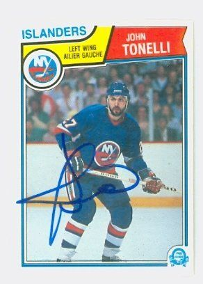 John Tonelli Auto 1983 Opc Islanders By Regular O Pee Chee Issue 10 00 This Card Was Signed By John Tonelli And Authentic Good Old Times Sports Hockey Cards