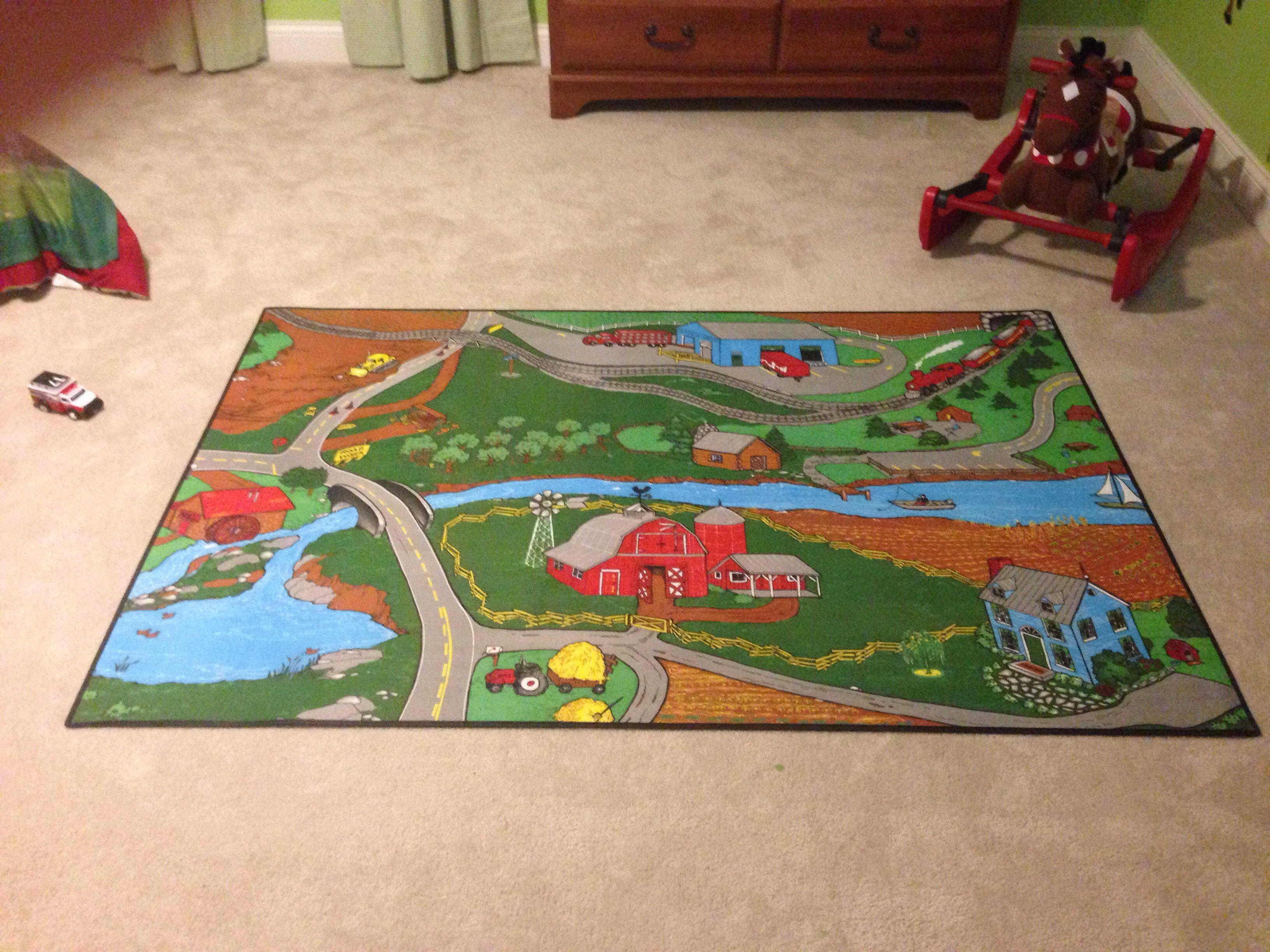 Farm rug for farm themed boys bedroom. Found on Amazon ...