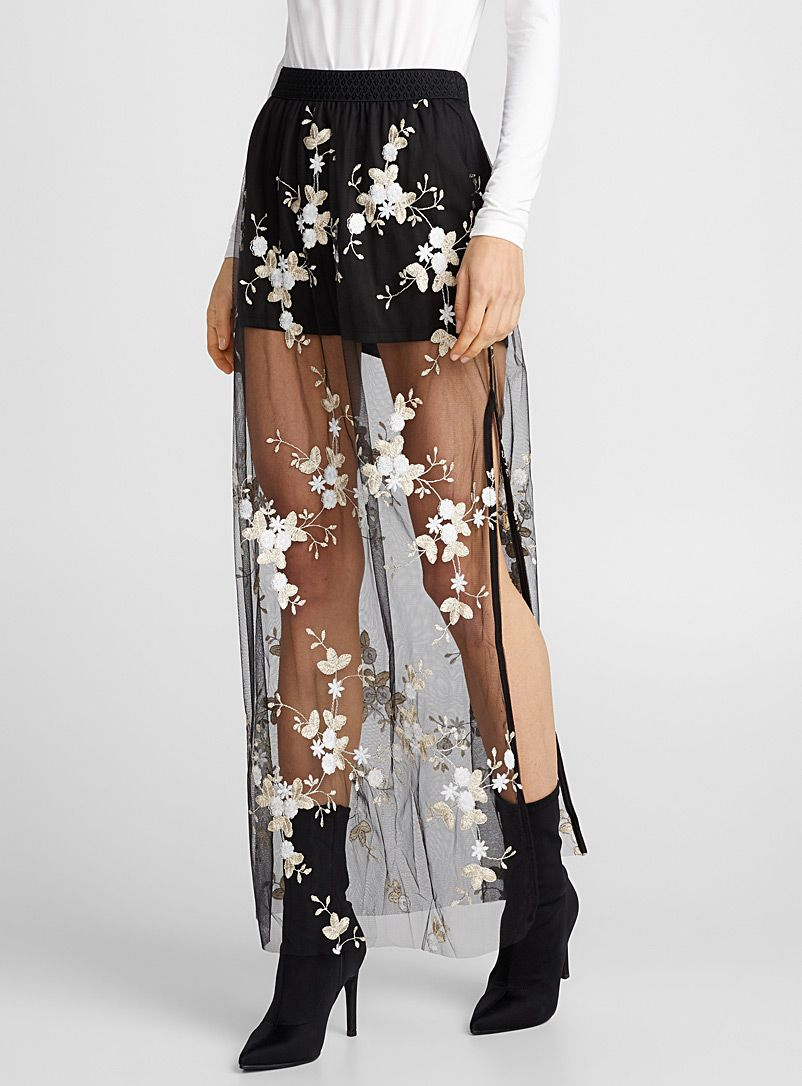 476ef938c62bd Embroidered garden tulle skirt in 2019 | hozier concert outfit ...