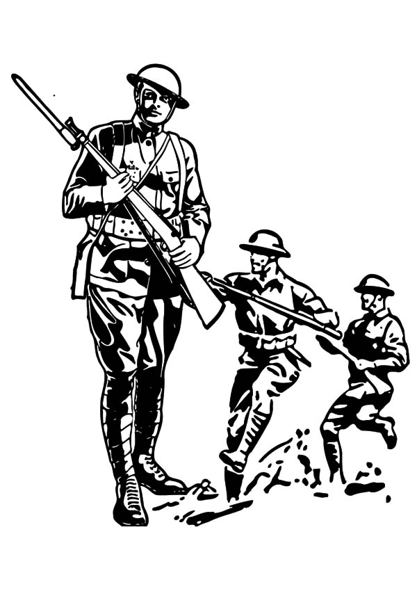 Military Army Attack Coloring Pages Color Luna Coloring Pages Military Army Military