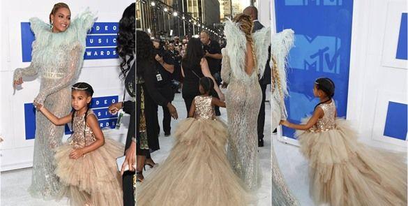 Hija de Beyoncé usó vestido de 11 mil dólares en los MTV VMAs