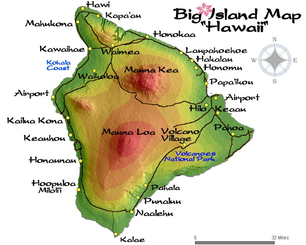 big island map  Hawaii  Pinterest  Maps Search and Islands