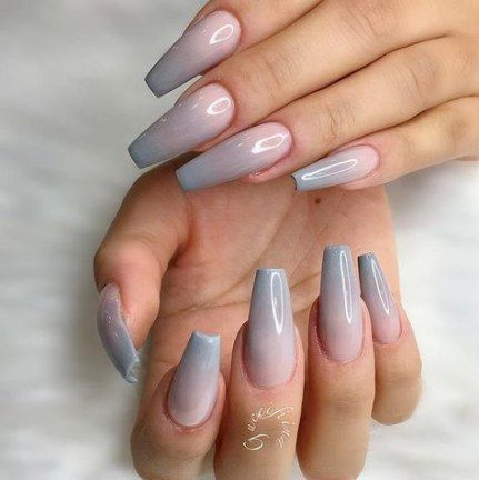 22 ideas nails shape coffin how to nails  pink ombre