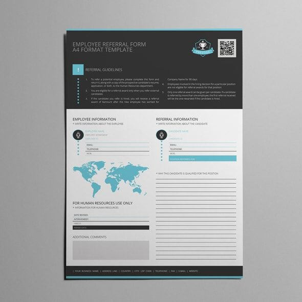 Employee Referral Form A4 Format Template Templates Referrals Print Templates
