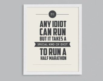 running quote pictures | ... Marathon Retro Print - Typographic Inspirational Running Quote - 8x10.....buon giorno bella