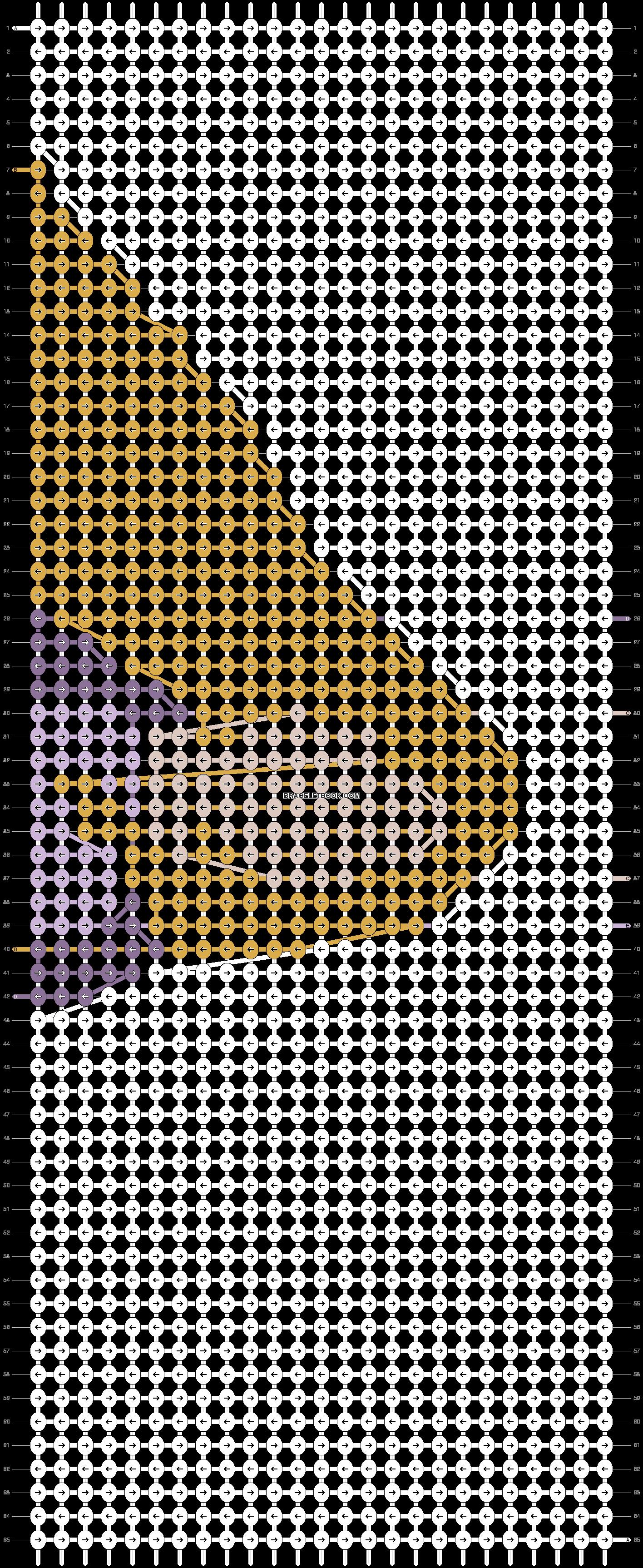 Alpha Friendship Bracelet Pattern #11790 - BraceletBook.com ...