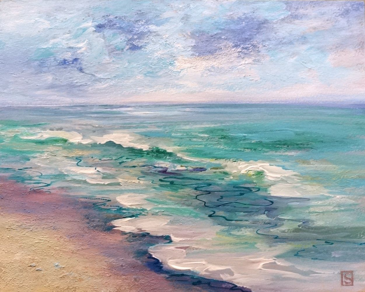 Sea Dean - Paint a Masterpiece: THE OCEAN BECKONS - 30 Paintings in 30 Days # 10 -...