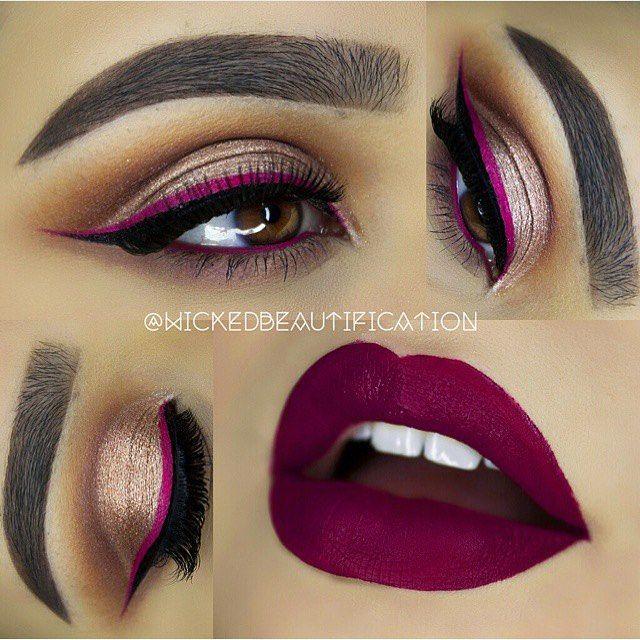 Lipcolor: Anastacia Beverly Hills liquid lipstick in 'Craft'.
