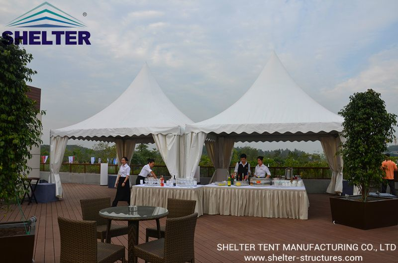pagoda tent with PVC fabric. For outdoor event small catering business gatering. & pagoda tent with PVC fabric. For outdoor event small catering ...