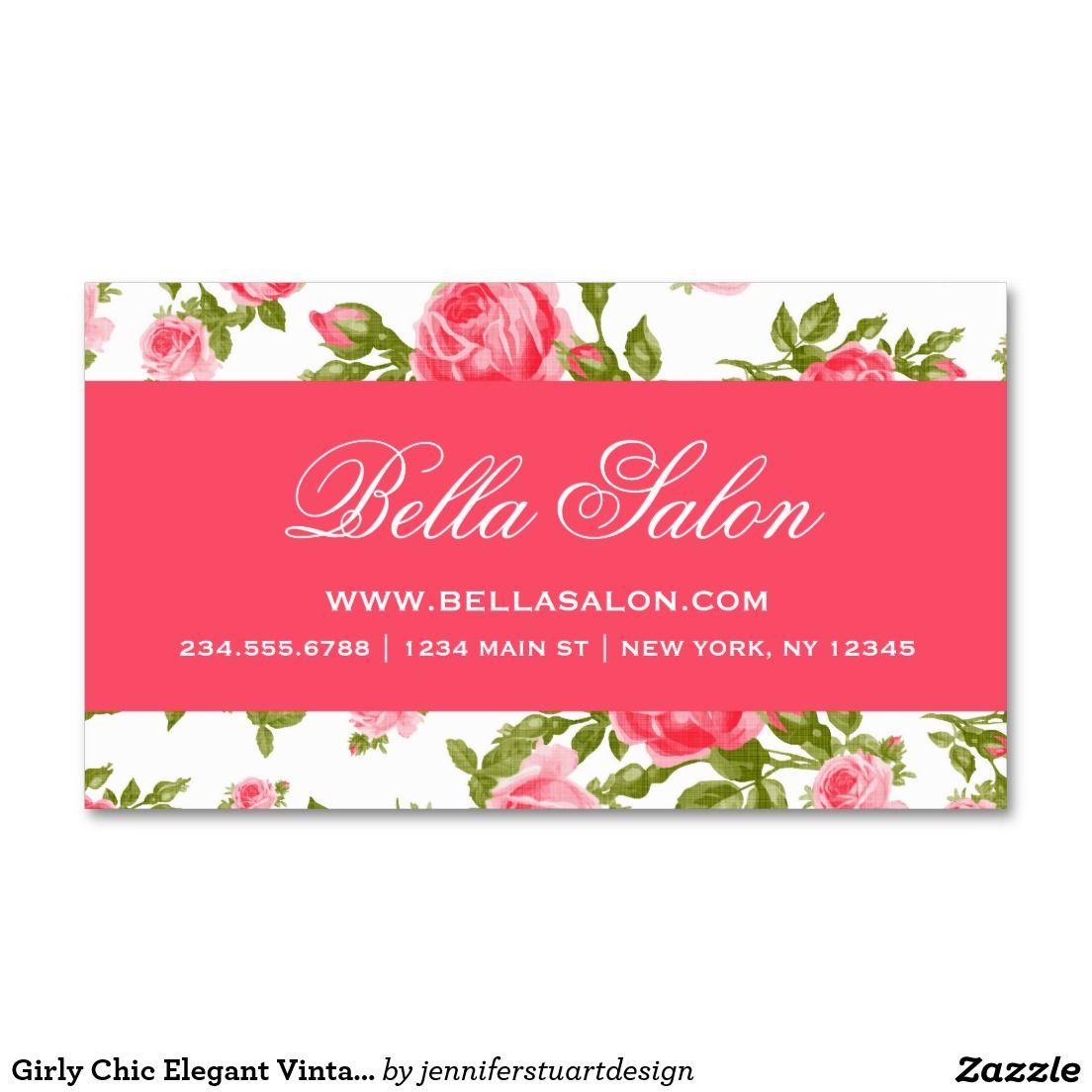 Rosas florales del vintage elegante elegante tarjetas de visita ...