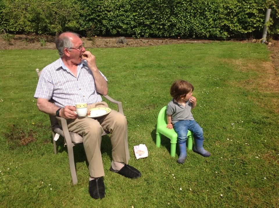 Lunch with grandad. From Barbara L