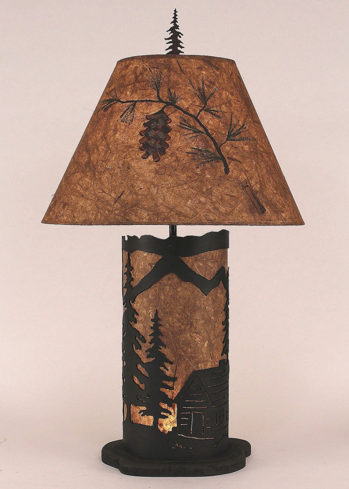lamps lamp twig fabric cabin rustic shades log branch sizes pattern tree