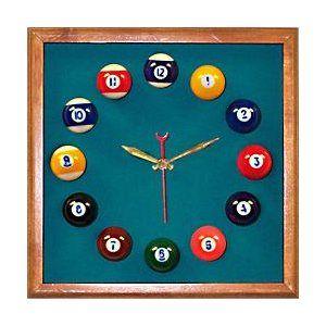 The Perfect Clock For Your Billiard Room Billiard Room Clock