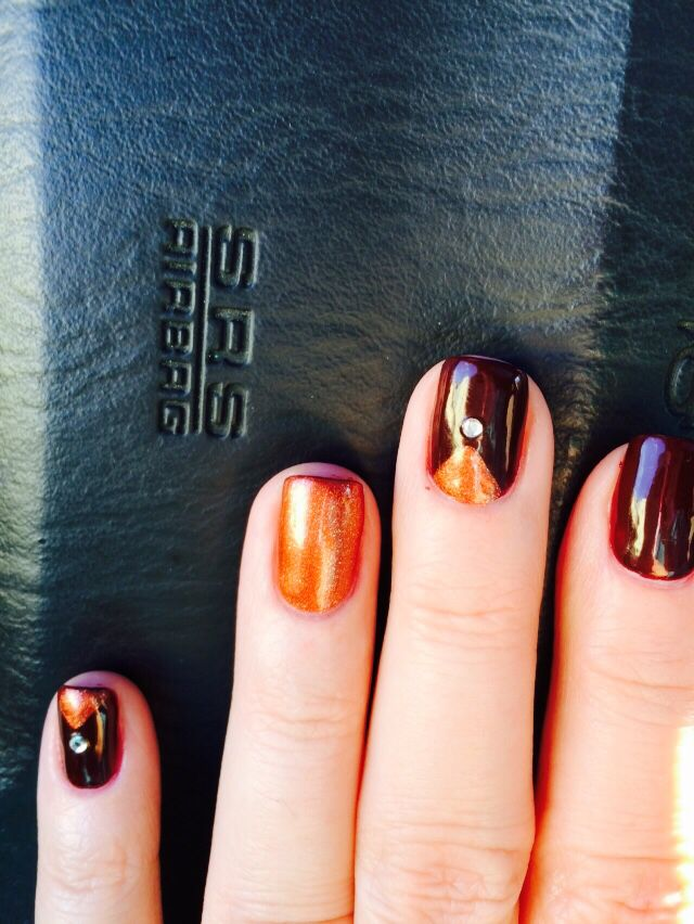 Color is Zoya's Clair and Autumn