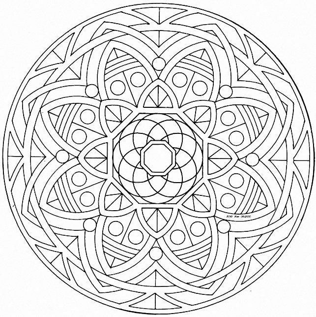 Mandalas for kids: geometric mandalas - Crafts | Pinterest ...