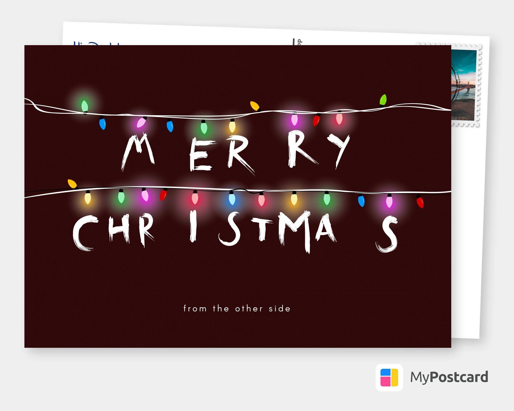 Frohe Weihnachtswünsche - Weihnachten Postkarte / Christmas Karte / Weihnachten Grüße
