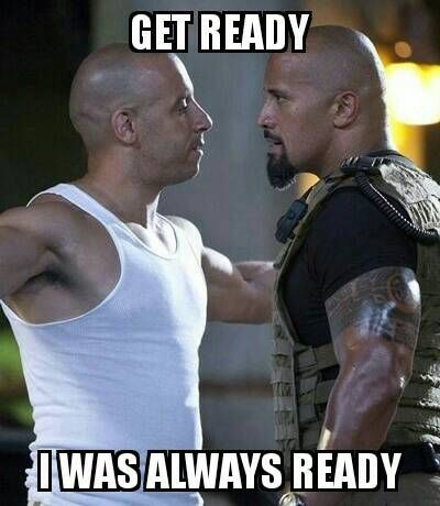 vin Diesel vs The Rock meme by PearlPop23 | Workout humor ...
