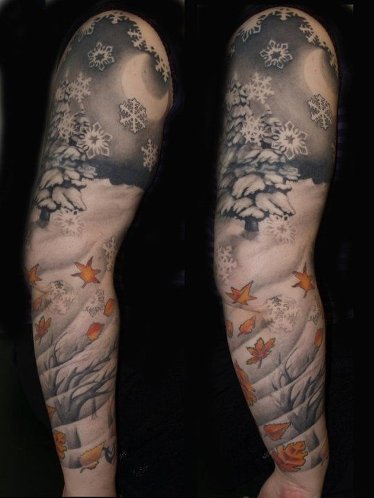 snowflake sleeve by morag sangster tattoo pinterest tattoo snowflake tattoos and body art. Black Bedroom Furniture Sets. Home Design Ideas