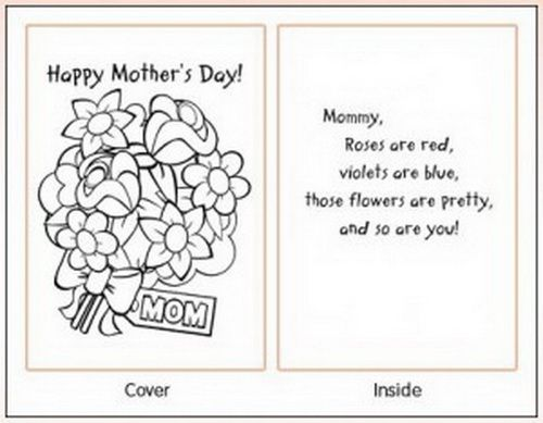 Easy Printable Mothers Day Cards Ideas For Kids  Cards Worksheets