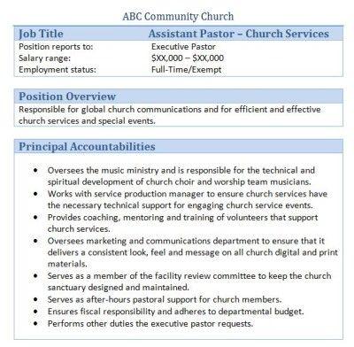 45+ Free Downloadable Sample Church Job Descriptions Best Job - webmaster job description