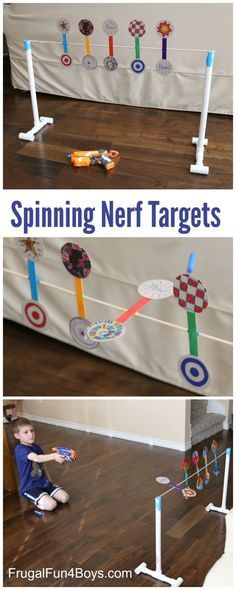 How to Make a Nerf Spinning Target - Frugal Fun For Boys and Girls