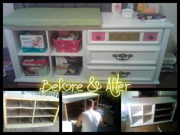 Old Dresser Into A Changing Table
