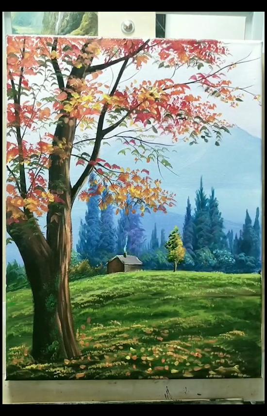 buddha knife painting