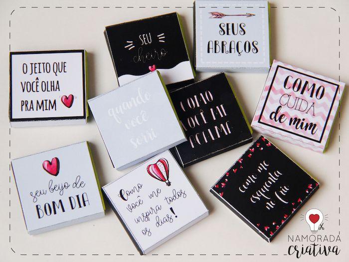 Diy Cartao Chocolate 10 Coisas Que Eu Amo Em Voce Presentes