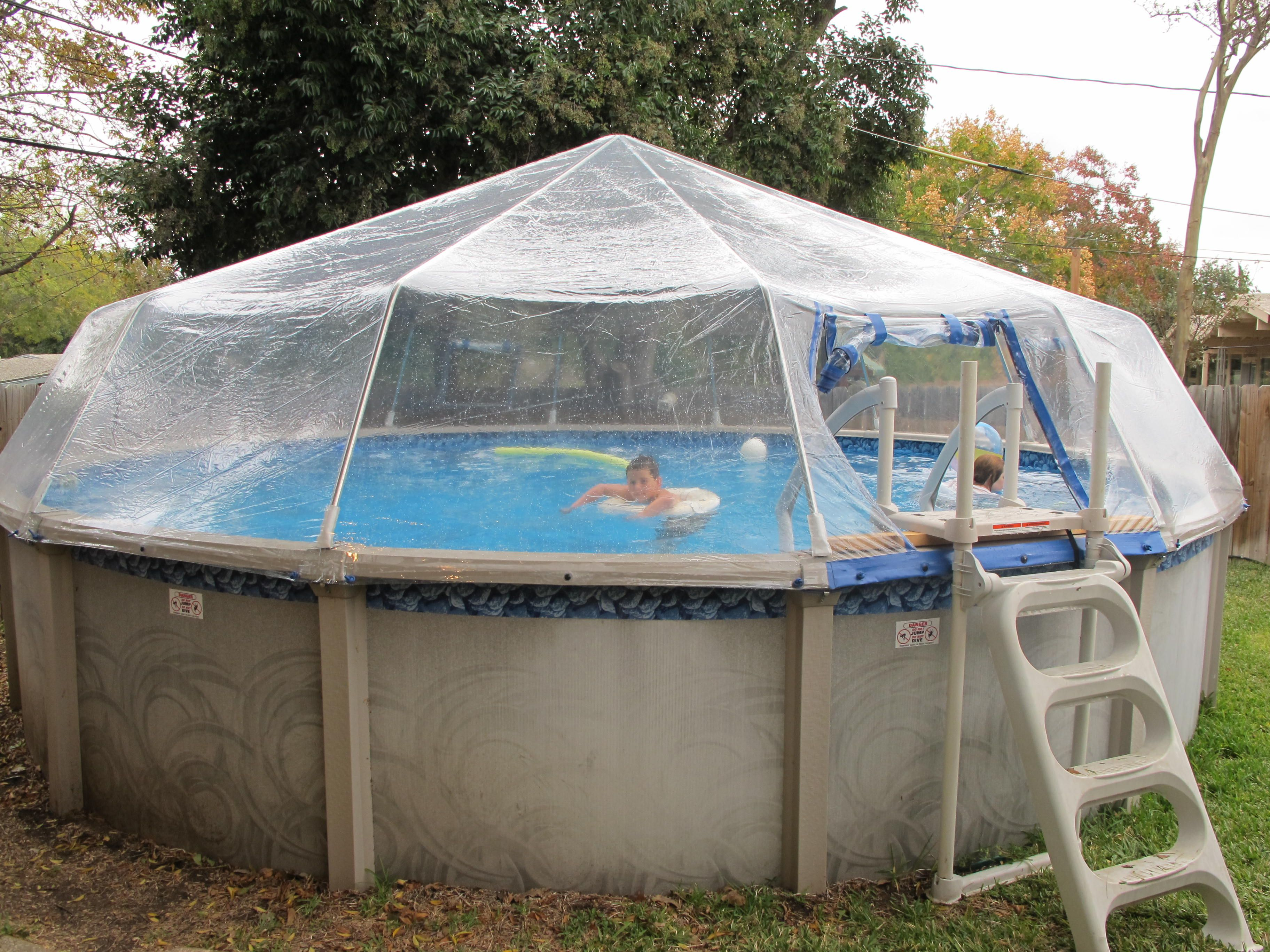 Above ground pool dome design decor 32591 decorating ideas for Patio decks for sale