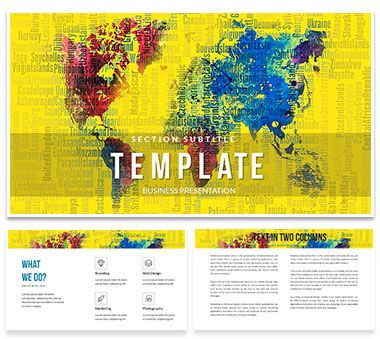 Abstract world map keynote template keynote and template abstract world map keynote templates gumiabroncs Image collections