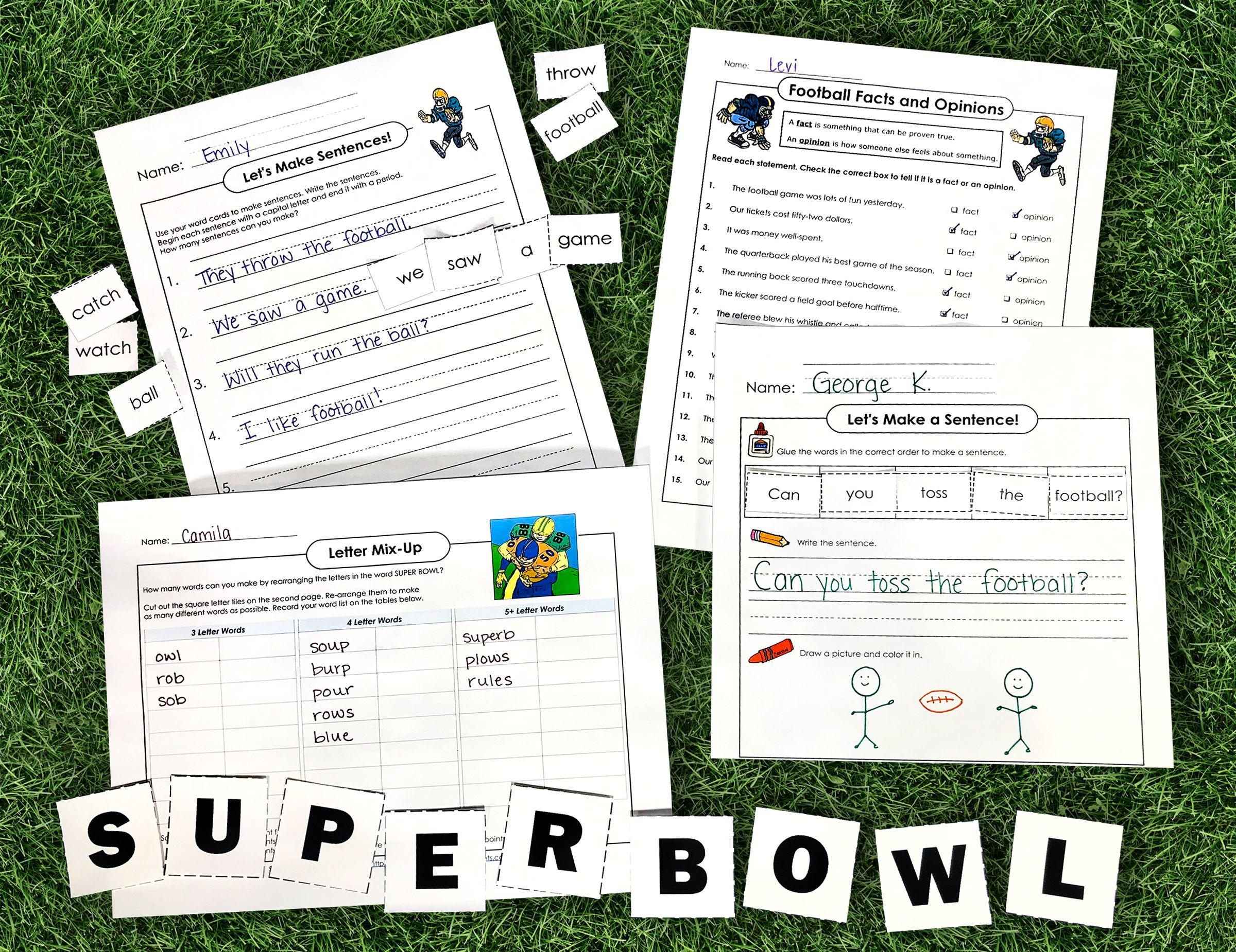 Football Fun Social Studies Puzzles Super Teacher Worksheets Teacher Helper