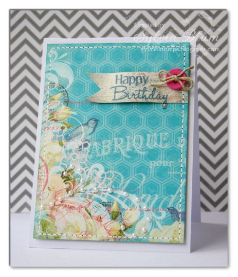 using @Bo Bunny papers and #CAS-ualFridaysStamps