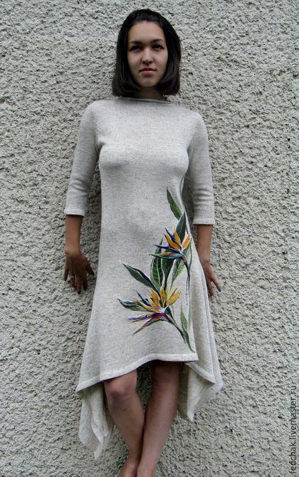 21f3f5bae703806 Платья ручной работы. Платье из льна с ручной вышивкой. Viktor.  Интернет-магазин Ярмарка Мастеров. Лен, ручная вышивка, лён
