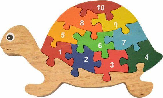 Turtle Numbers Puzzle Wooden Puzzles For 2 Year Olds Best Etsy In 2020 Wooden Puzzles Jigsaw Projects Kids Wooden Puzzles