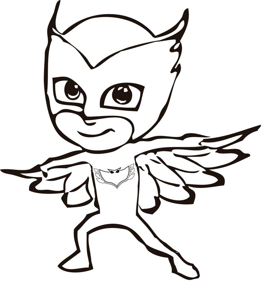 Pj Coloring Pages Masks With Images Pj Masks Coloring Pages