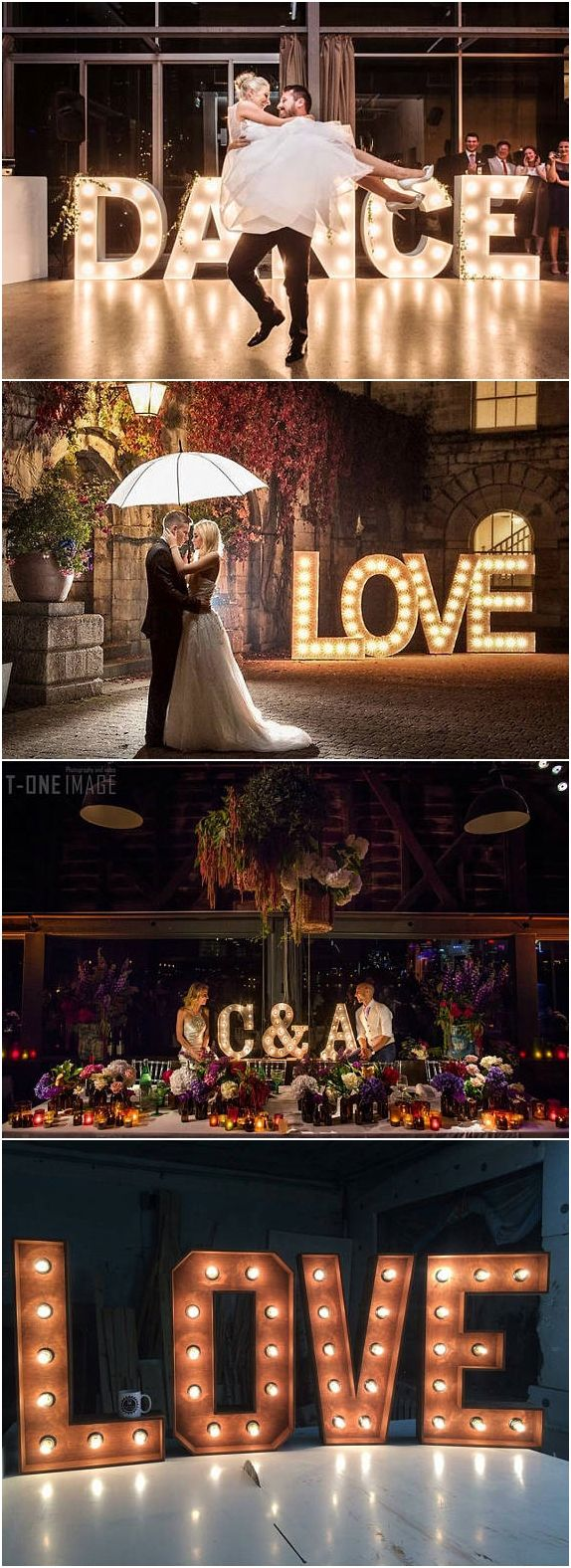 Large letter lights, personalized wedding sign Lights Decor sign